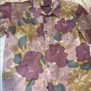 gazzarrini size small mens short sleeve button up